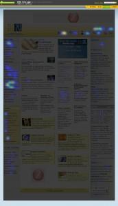 uma heat map da home page da SBEM, gerado pelo CrazyEgg