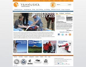 novo site do Yamnuska Mountain Adventures